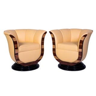 Art Deco Style Tulip Armchairs - a Pair