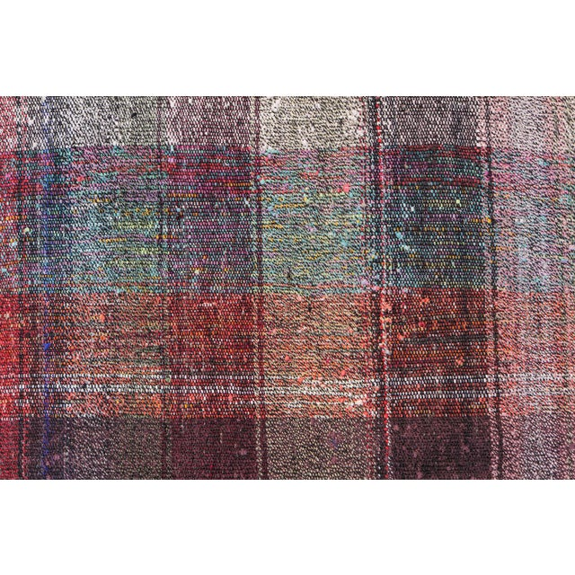 Vintage Turkish Multi-Color Hand Made Flatweave Rug - 6′8″ × 10′8″ - Image 5 of 5