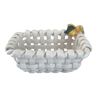Lattice-Weave Bowl W/Lemons For Sale