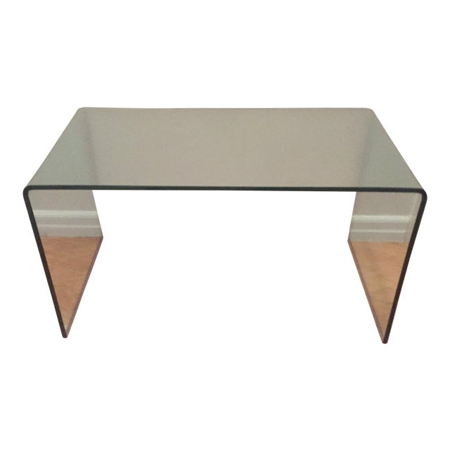 Modern Glass Waterfall Coffee Table - Image 1 of 3
