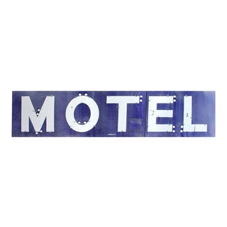 1930's Porcelain Motel Sign For Sale