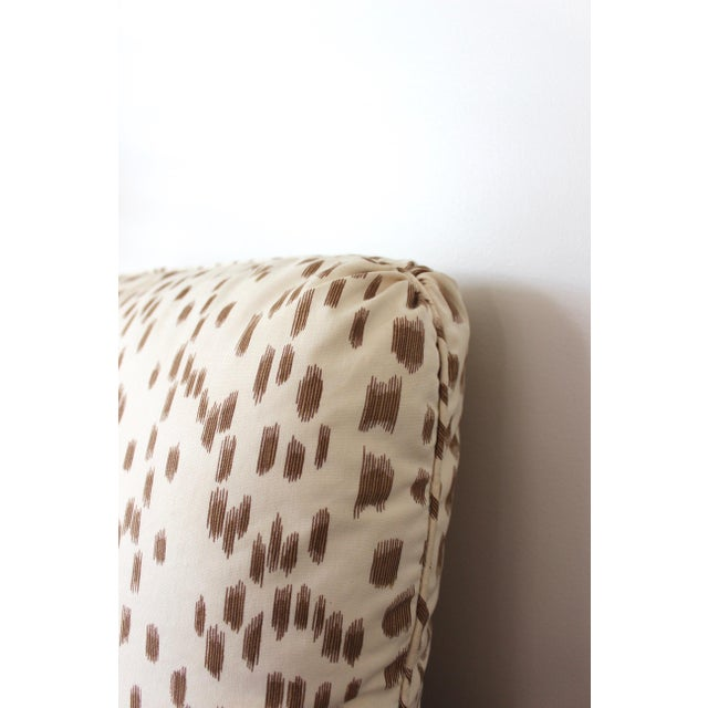 """Contemporary Contemporary Brunschwig & Fils """"Les Touches"""" Tan and Cream Cotton Pillow For Sale - Image 3 of 4"""