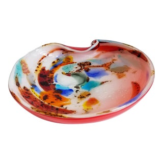 Vintage Murano Tutti Frutti Art Glass Bowl For Sale