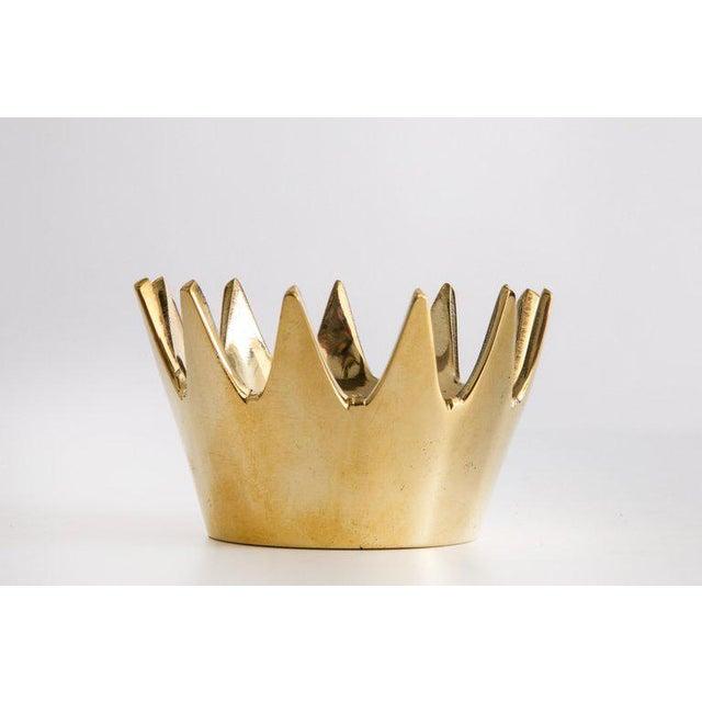 2010s Mid-Century Modern Carl Auböck Model #3600 'Crown' Brass Bowl For Sale - Image 5 of 6