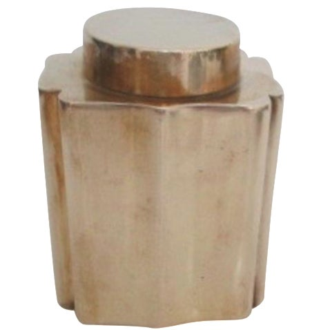 Antique Brass Canister - Image 1 of 9