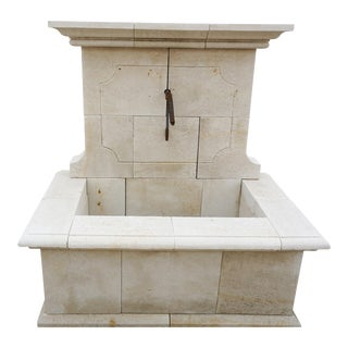 Hand Carved Wall Fountain For Sale