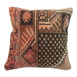 Vintage Handmade Rust Turkish Pillow Cover For Sale