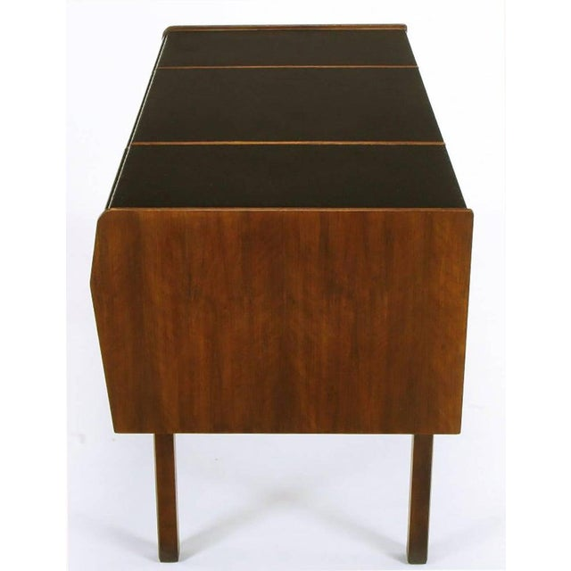 1950s Mid-Century Modern Desk by Bert England for Widdicomb in Leather, Walnut and Bronze For Sale - Image 5 of 10