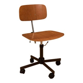 20th Century Danish Modern Jorgen Rasmussen Teak Kevi Office Chair For Sale
