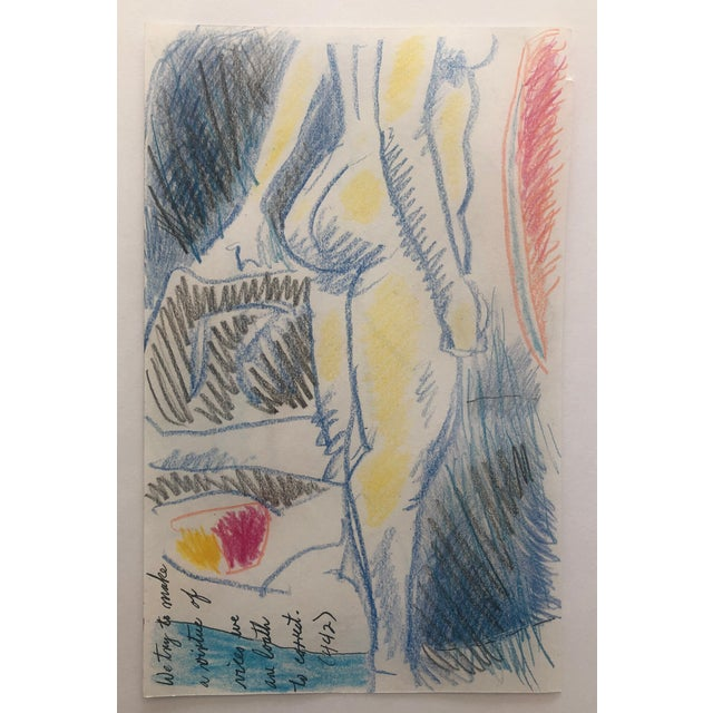 Contemporary Colorful Female Nude Drawing by James Bone For Sale - Image 3 of 3