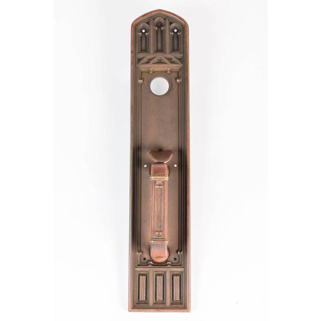 Gold Gothic Cast Bronze Door Handle For Sale - Image 8 of 8