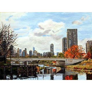 """Josh Moulton """"Lincoln Park Zoo Bridge"""" Giclee Print After a Painting For Sale"""
