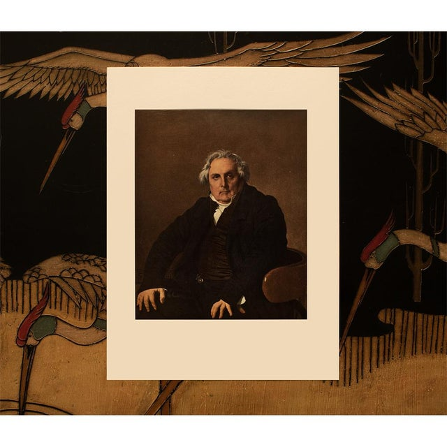 """1950s 1951 Ingres """"Monsieur Bertin"""", First Edition Neoclassical Parisian Photogravure For Sale - Image 5 of 8"""