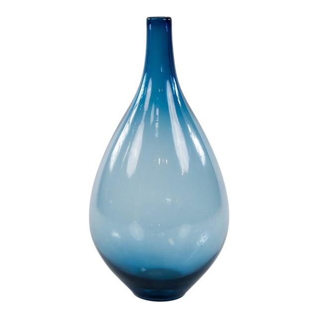 1980s Contemporary Blue Zafiro Glass Vase Chairish
