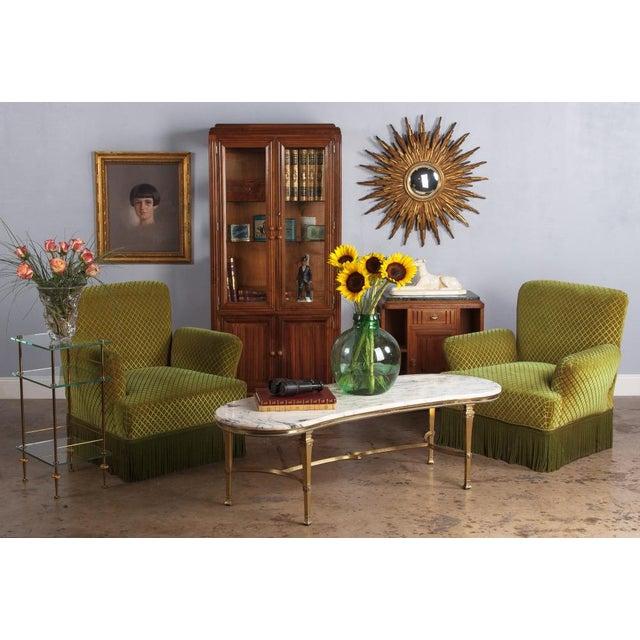 French Art Deco Walnut Vitrine/Display Cabinet - Image 11 of 11
