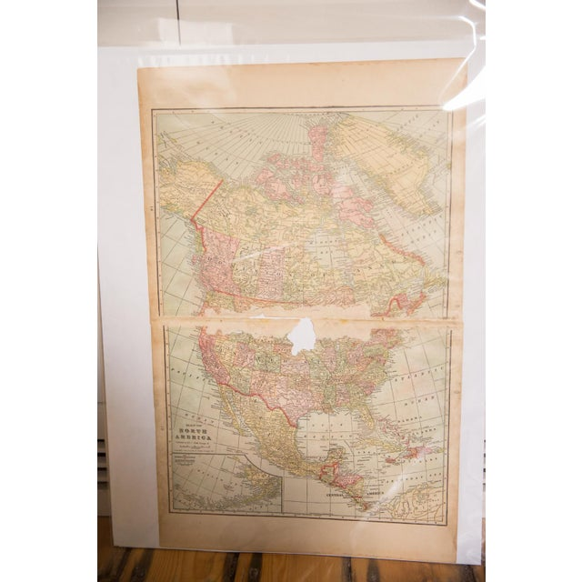 Paper Cram's 1907 Map of North America For Sale - Image 7 of 9