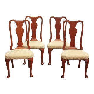 Set of Georgian Chairs with Urn Form Splats / Queen Anne Style For Sale
