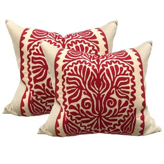 Early 20th Century Hungarian Folk Art Pillows - a Pair For Sale