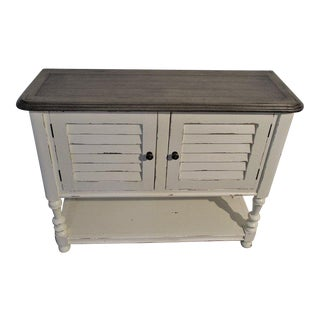Sideboard Console Shutter Door Cabinet With Shelf Cottage Shabby Chic Boho