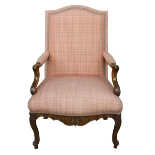 Early 18th Century Vintage French Regence Period Walnut Bergere Chair For Sale