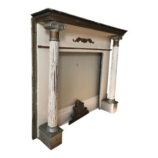 Neo Classical Wooden Fireplace Mantel For Sale