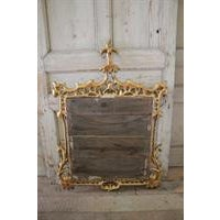 19th Century Carved Chippendale Style Gilt Mirror - Image 4 of 6
