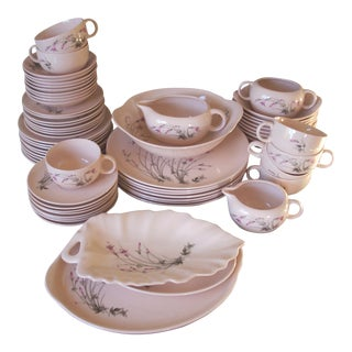 Mid-Century Carnation Dinnerware 63 Piece Set For Sale
