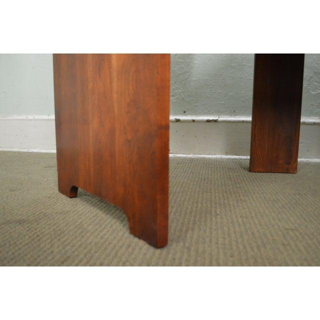Stickley Solid Cherry Corner Desk w/ Bookcase Top For Sale In Philadelphia - Image 6 of 10