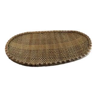 Primitive Vintage Woven Basket Tray
