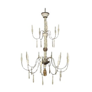 Large Shabby Chic Chandelier For Sale