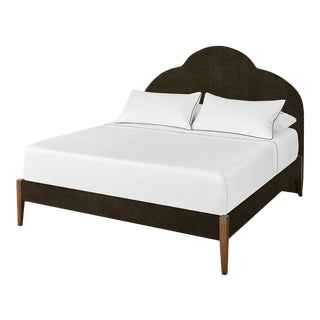 The Crown Bed - King - Kate - Luxe Velvet, Shadow For Sale