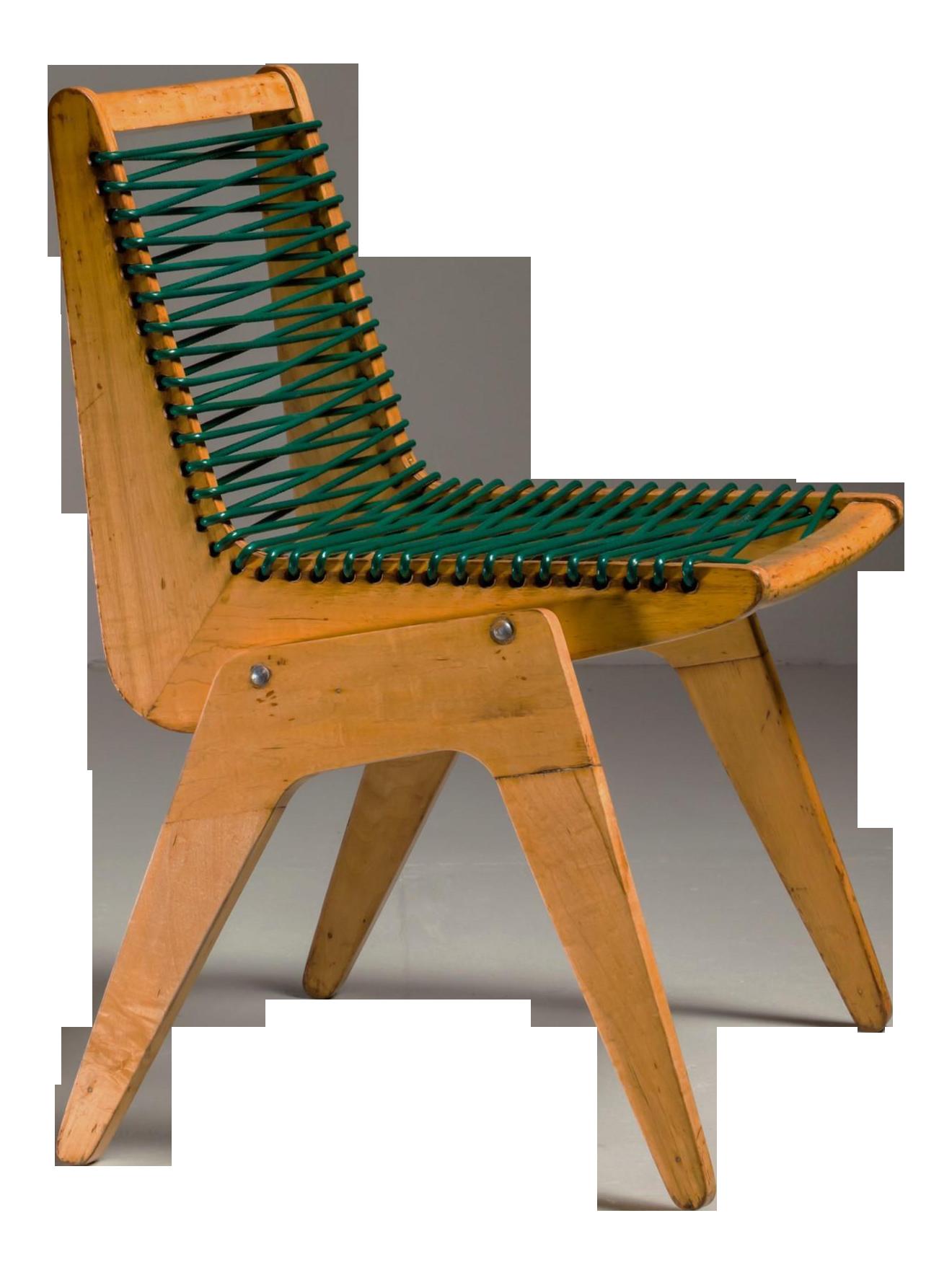Robert Kayton And Associates Plywood With Woven Cord Chair, US, 1940s    Image 1