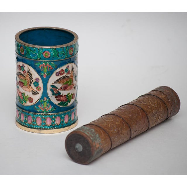 Asian Vintage Peking Brush Pot & Kaleidoscope For Sale - Image 3 of 11