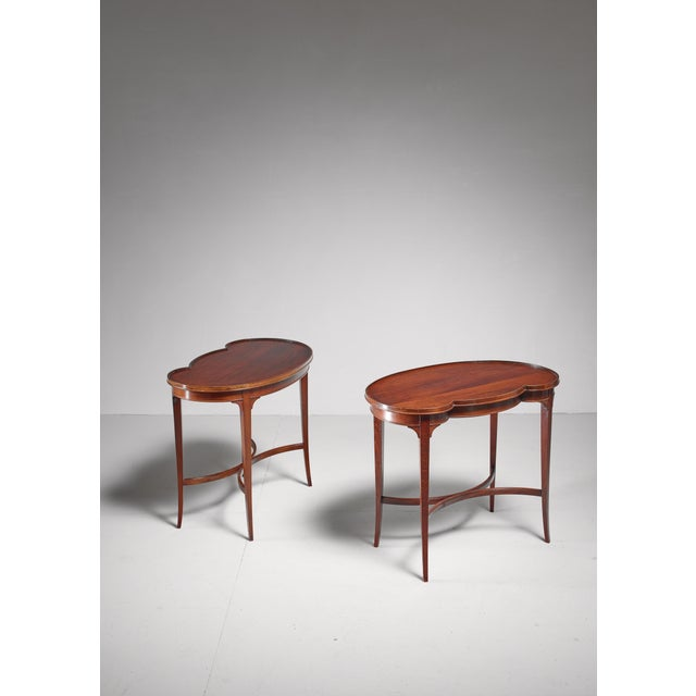 Mid-Century Modern Pair of free form Nordiska Kompaniet side tables, Sweden, 1945 For Sale - Image 3 of 5