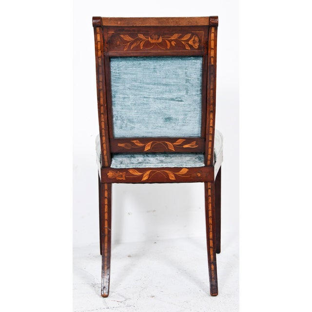 Dutch Inlaid Upholstered Chairs - Set of 4 - Image 2 of 4