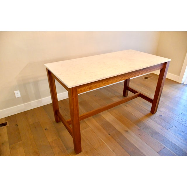Mid-Century Modern Room & Board Linden Dining Counter Bar Table For Sale - Image 3 of 9