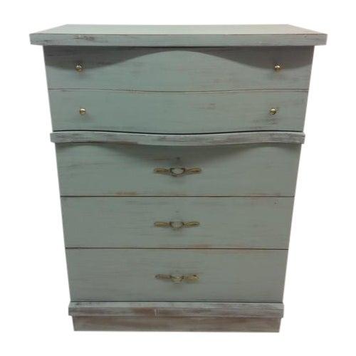 1950's Serpentine 4 Drawer Dresser - Image 1 of 5