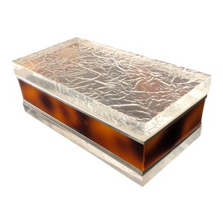Gabriella Crespi Style Modernist Lucite Box For Sale