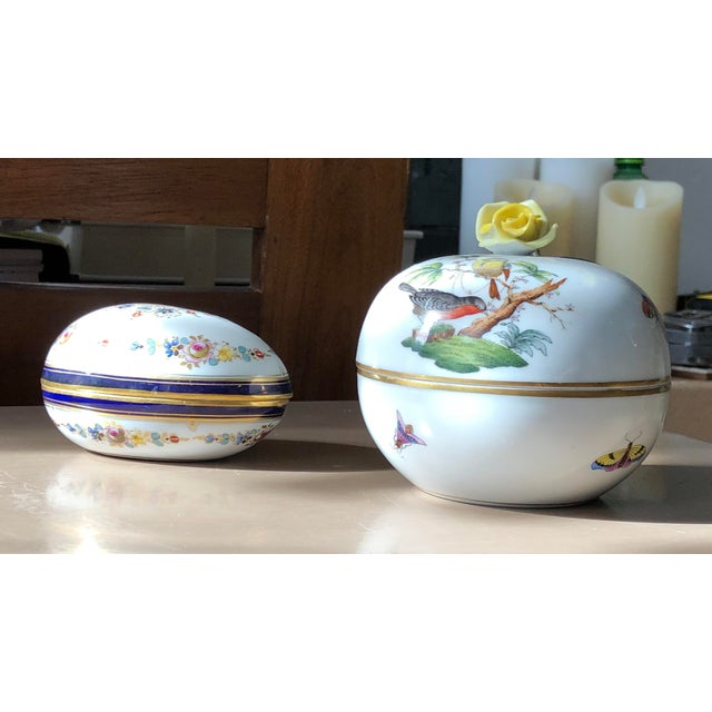 Herend Meissen &Herrend Trinketier Set - a Pair For Sale - Image 4 of 4