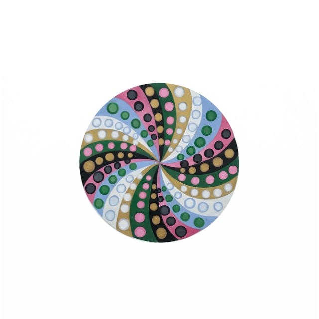 Final Markdown/Contemporary Spiral Painting by Natasha Mistry For Sale - Image 11 of 12