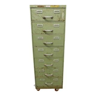 Vintage Industrial Green Filling Cabinet
