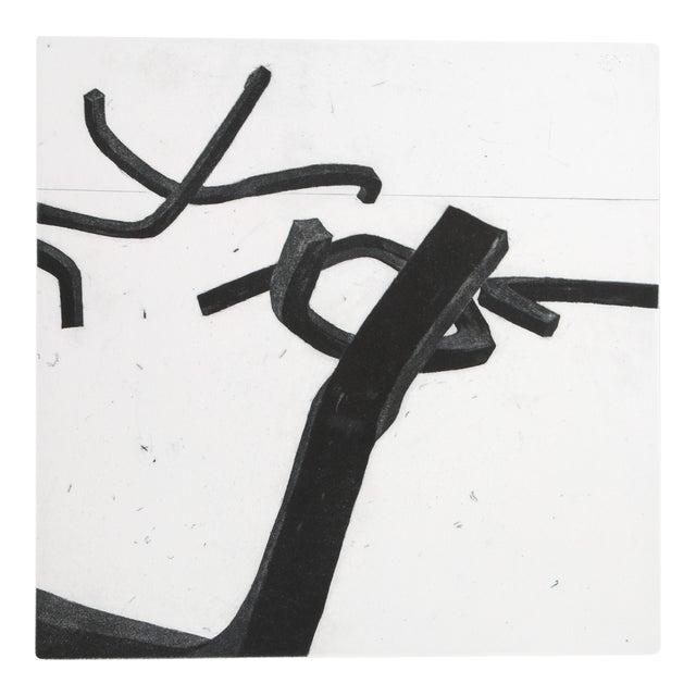 """Bernar Venet, """"4 From Combinaison Aléatoire De Lignes Indéterminées"""", Minimalist Etching For Sale"""