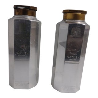 1921-1936 Yardley Prince of Wales & Late King George VI Invisible Talc Tins - a Pair For Sale