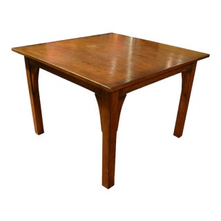 Crafters and Weavers Square Mission Oak Dining Table For Sale