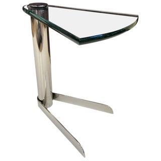 Cantilevered Side Table Manner of Karl Springer For Sale
