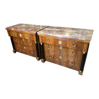 1960s Empire Style Baker Furniture Chests - a Pair For Sale