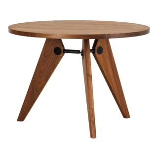 Jean Prouvé Guéridon Dining Table in Walnut for Vitra For Sale