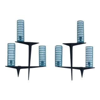 1960s Maison Arlus Sconces - a Pair For Sale