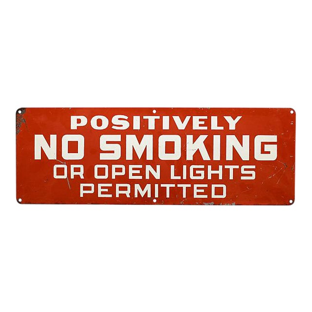 Positively No Smoking Sign For Sale