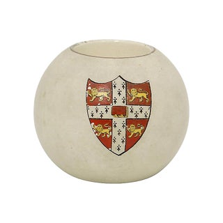 Antique Hand-Painted Cambridge University Match Holder For Sale